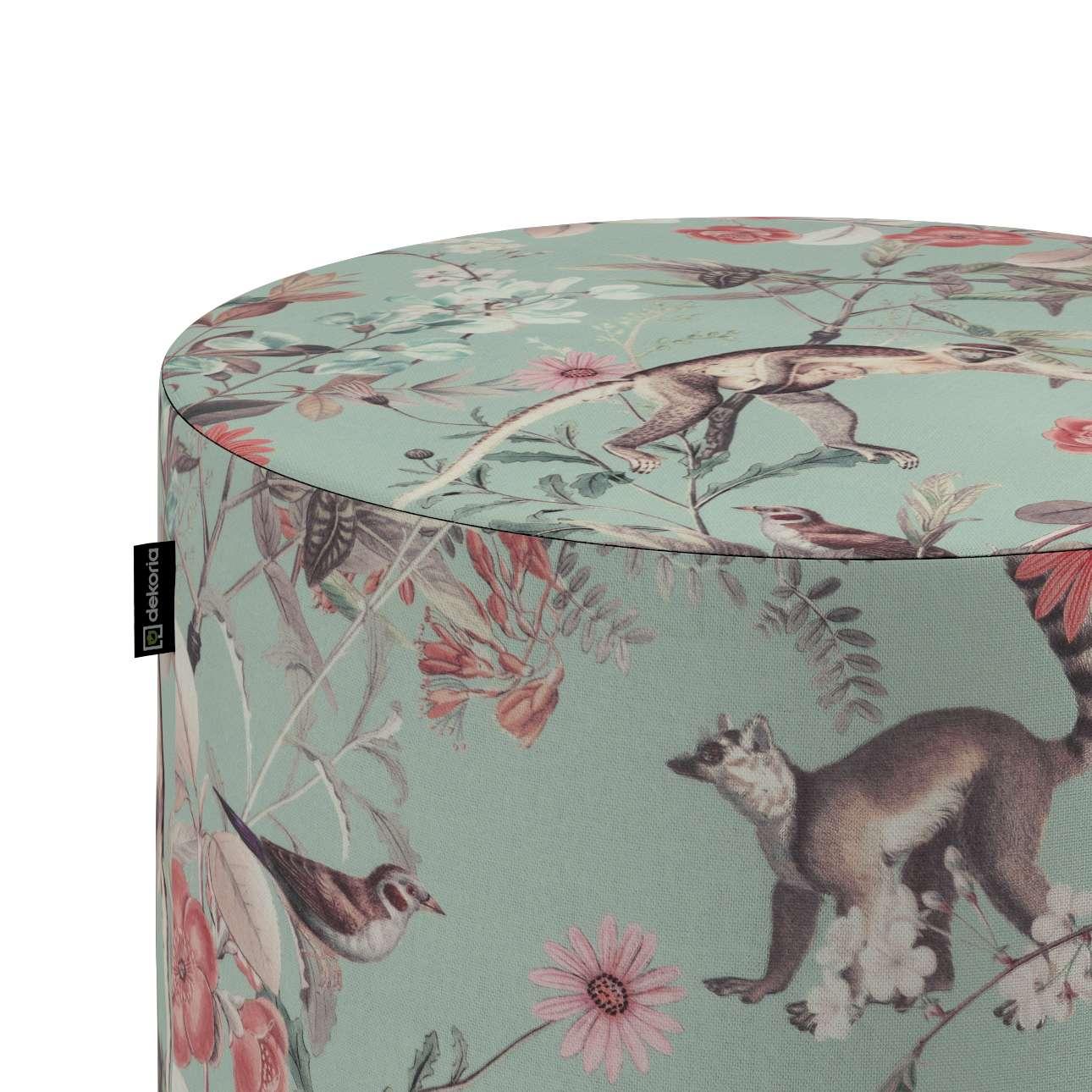 Puf Barrel w kolekcji Tropical Island, tkanina: 142-62