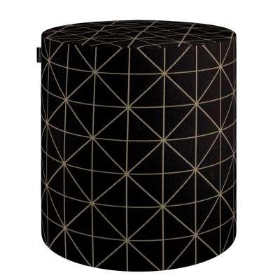 Pouf Barrel von der Kollektion Black & White, Stoff: 142-55