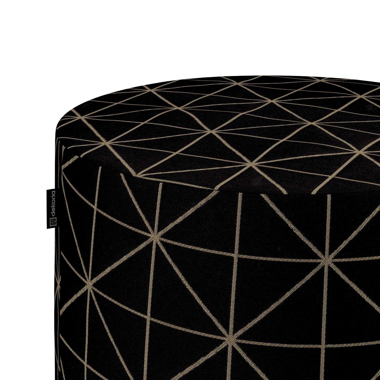 Puf Barrel w kolekcji Black & White, tkanina: 142-55