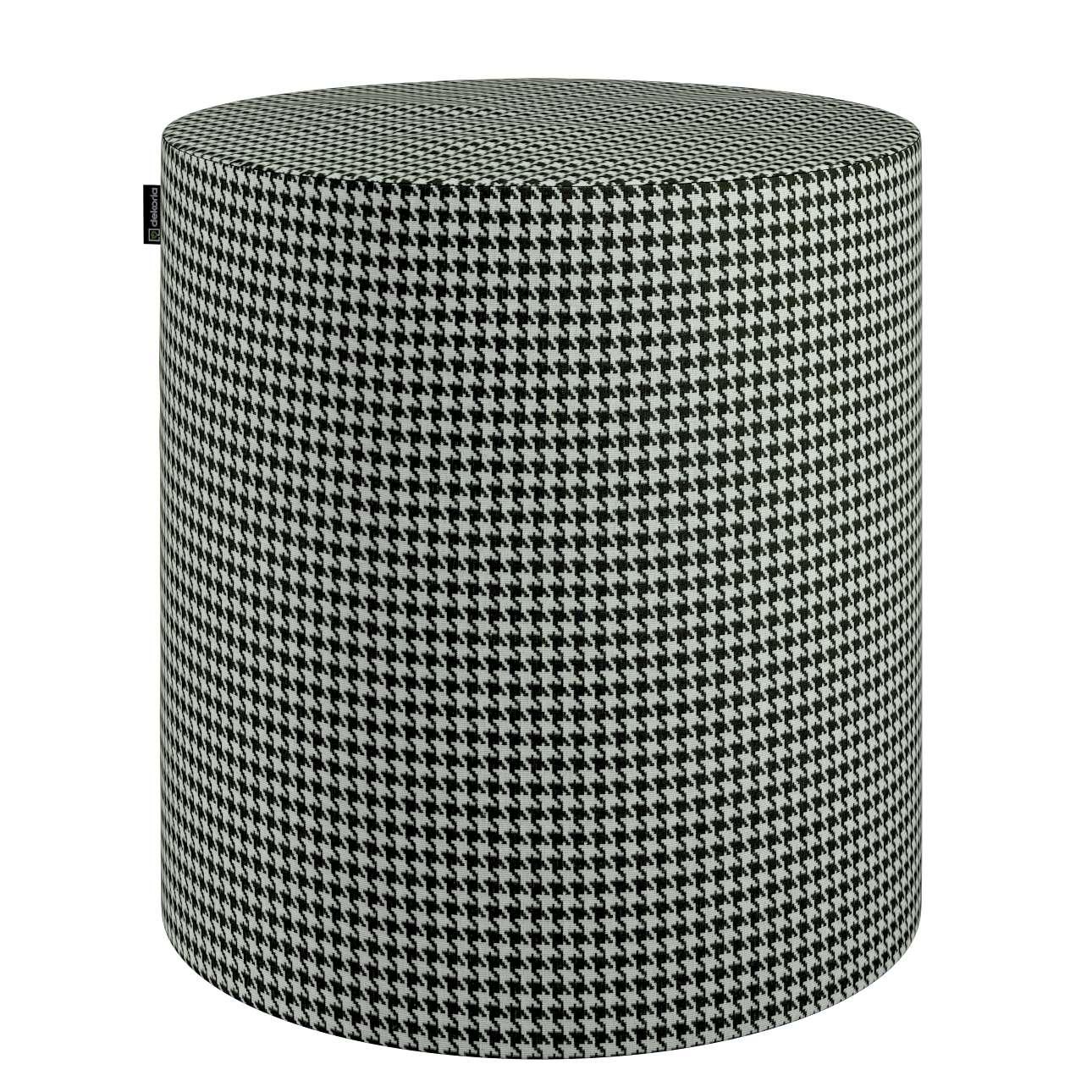 Taburetka valec, tvrdá V kolekcii Black & White, tkanina: 142-77