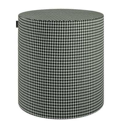 Poef Barrel 142-77 zwart-wit Collectie Black & White
