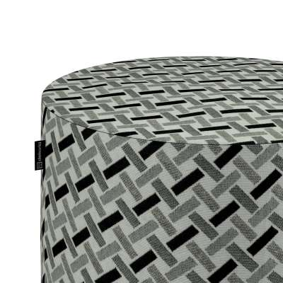Puf Barrel w kolekcji Black & White, tkanina: 142-78