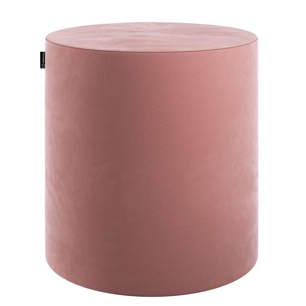 Puf Barrel w kolekcji Velvet, tkanina: 704-30