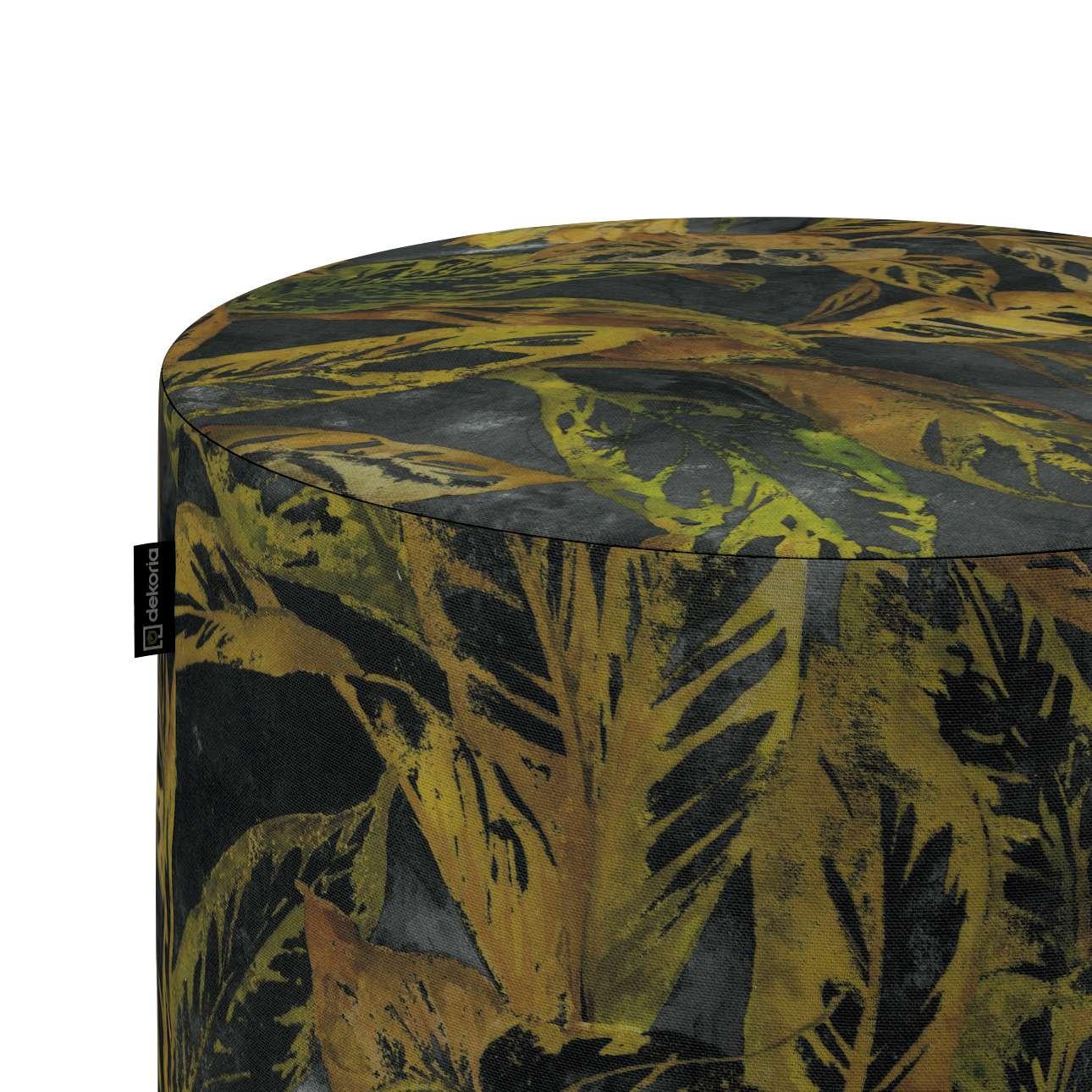 Taburetka valec, tvrdá V kolekcii Abigail, tkanina: 143-01