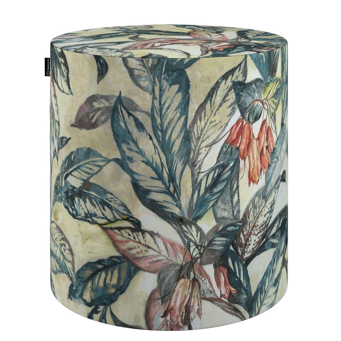 Puf Barrel w kolekcji Abigail, tkanina: 143-08