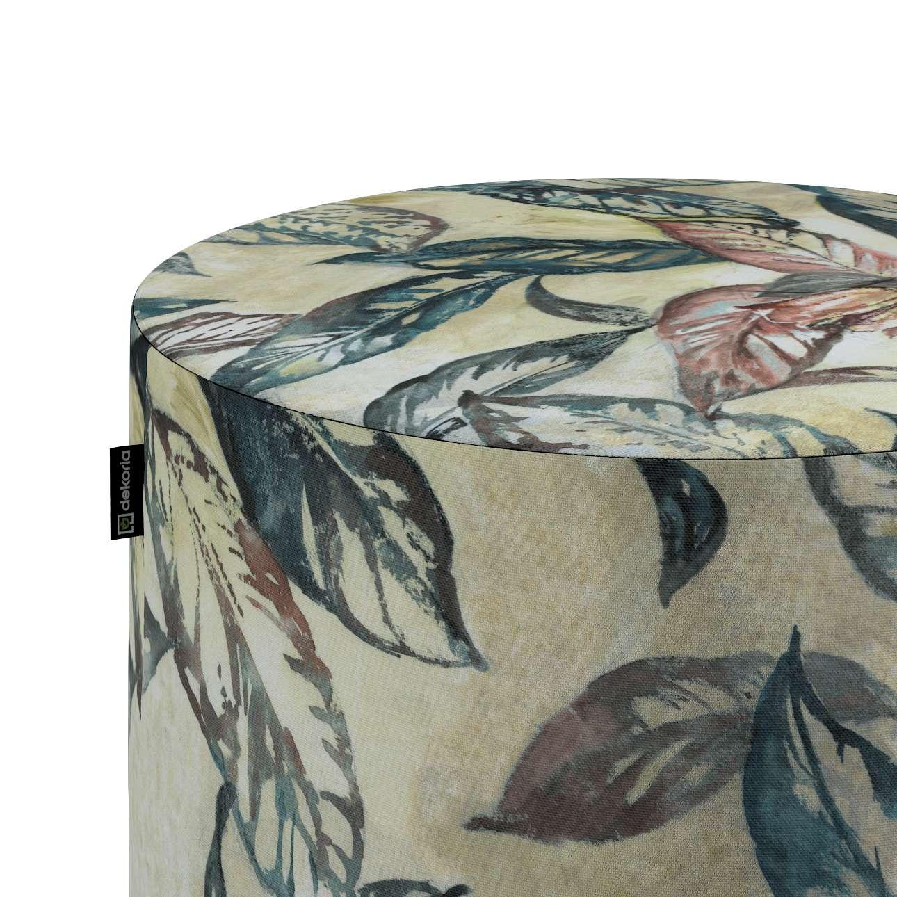 Taburetka valec, tvrdá V kolekcii Abigail, tkanina: 143-08
