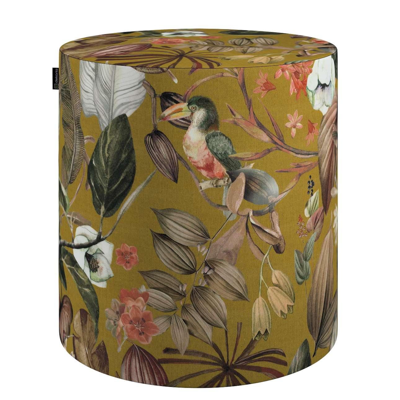 Puf Barrel w kolekcji Abigail, tkanina: 143-09