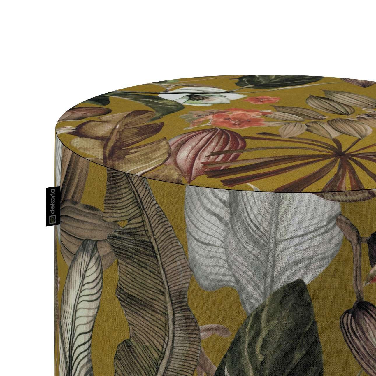 Taburetka valec, tvrdá V kolekcii Abigail, tkanina: 143-09