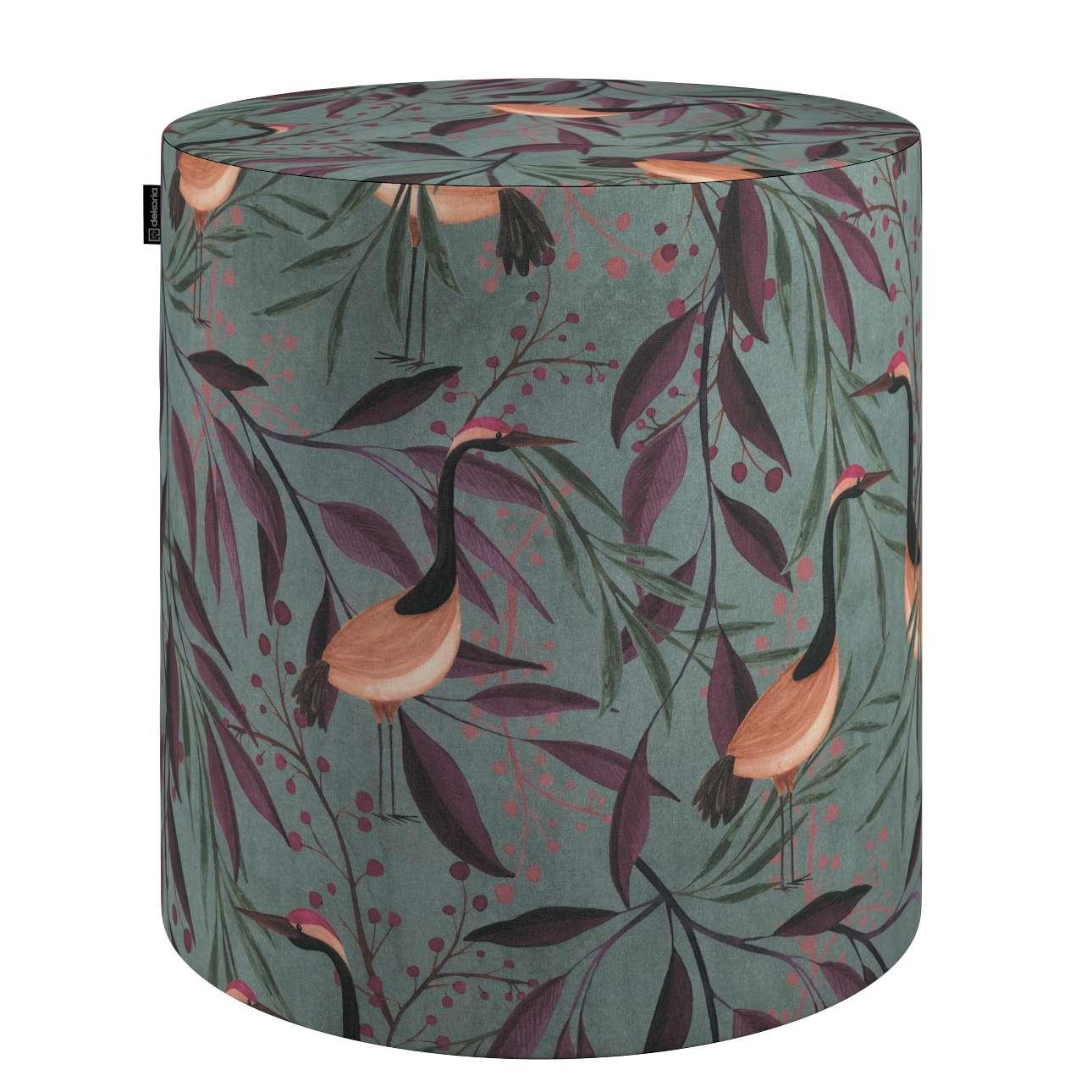 Puf Barrel w kolekcji Abigail, tkanina: 143-11