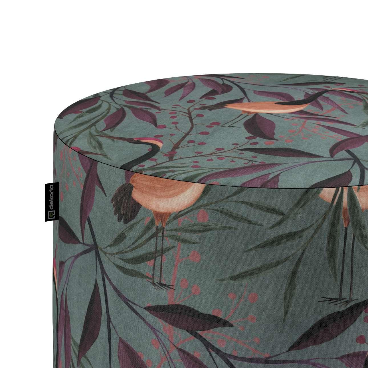 Taburetka valec, tvrdá V kolekcii Abigail, tkanina: 143-11