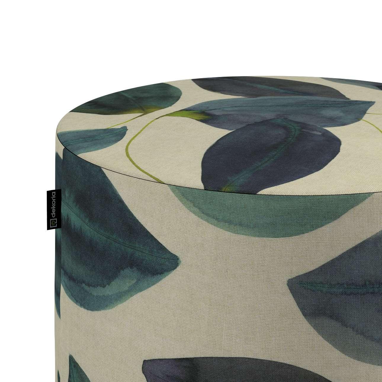 Taburetka valec, tvrdá V kolekcii Abigail, tkanina: 143-15