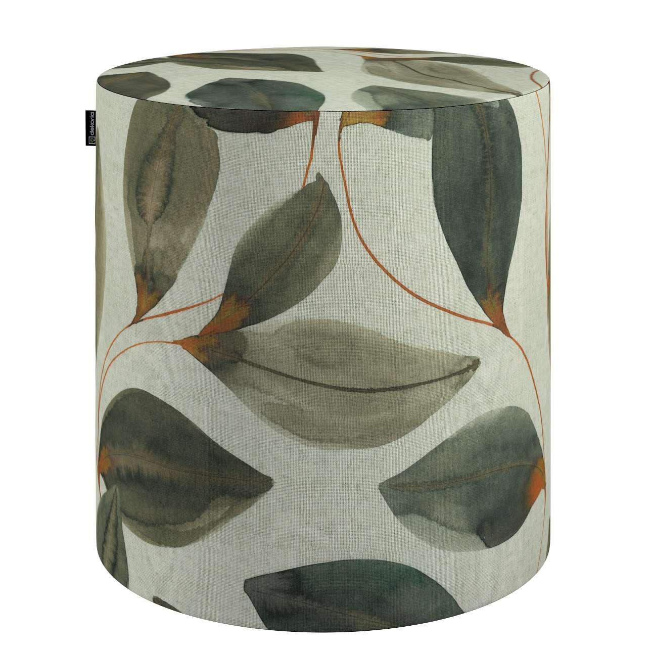 Pouf Barrel von der Kollektion Abigail, Stoff: 143-17