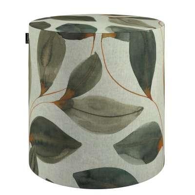 Taburetka valec, tvrdá V kolekcii Abigail, tkanina: 143-17