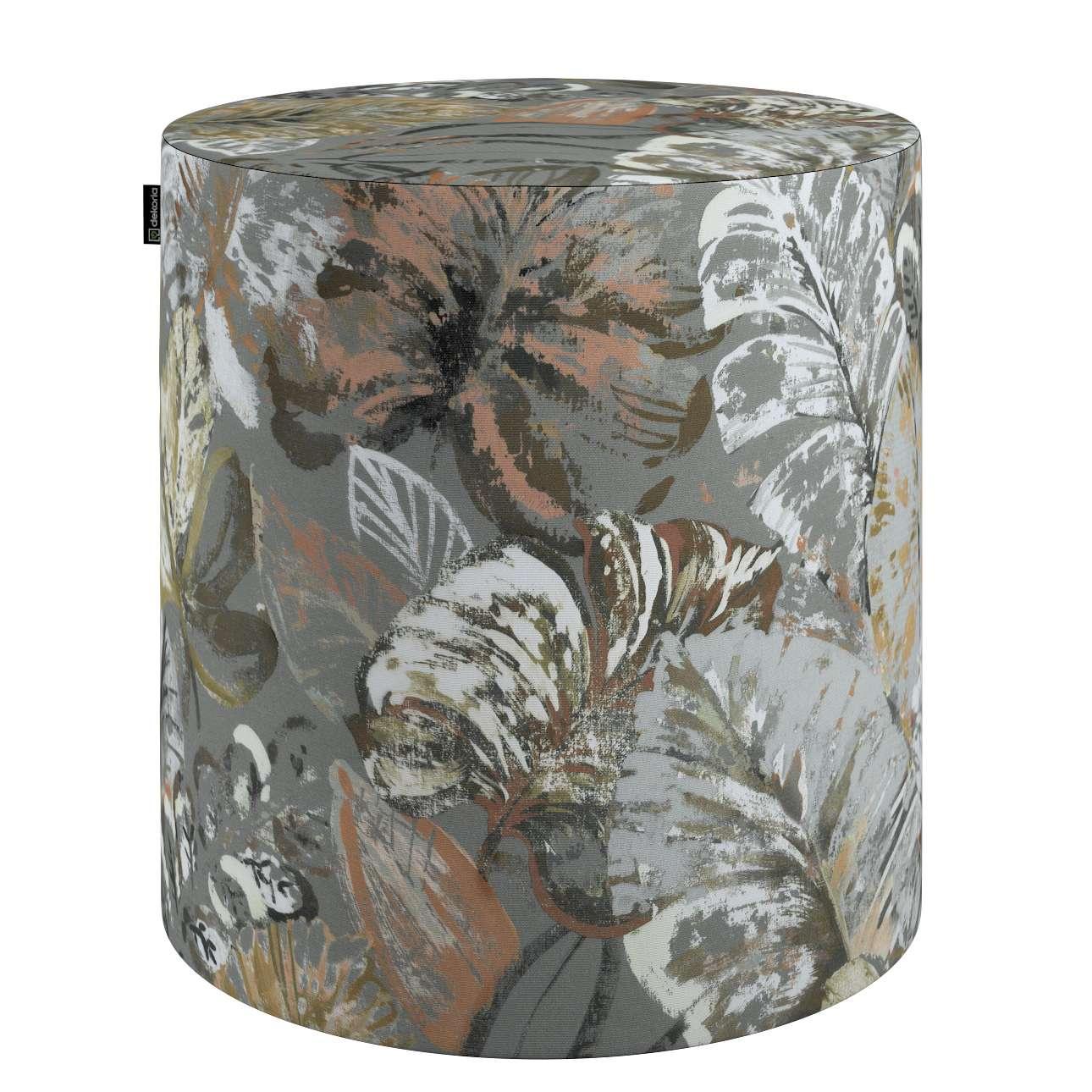 Puf Barrel w kolekcji Abigail, tkanina: 143-19