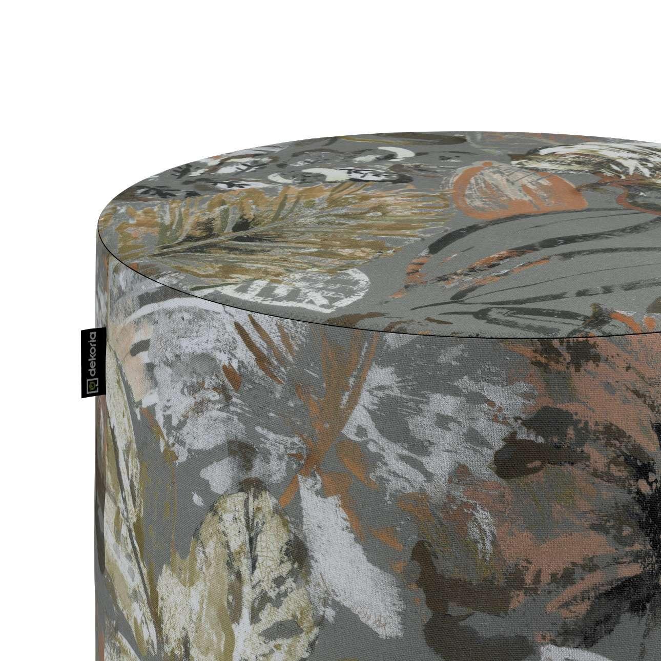 Taburetka valec, tvrdá V kolekcii Abigail, tkanina: 143-19