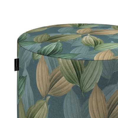 Taburetka valec, tvrdá V kolekcii Abigail, tkanina: 143-20