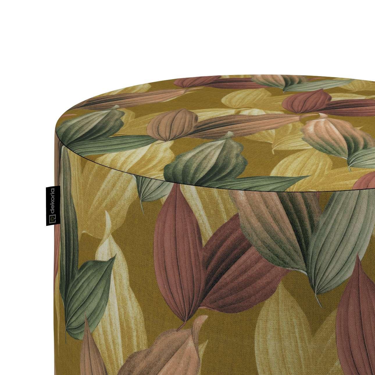Puf Barrel w kolekcji Abigail, tkanina: 143-22