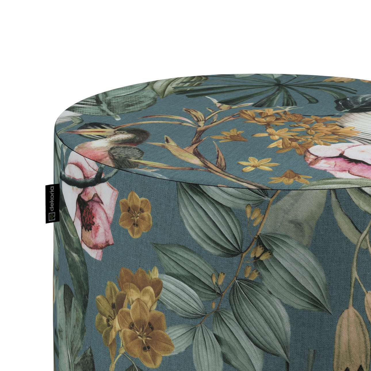 Puf Barrel w kolekcji Abigail, tkanina: 143-24