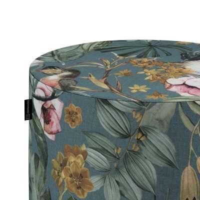 Taburetka valec, tvrdá V kolekcii Abigail, tkanina: 143-24