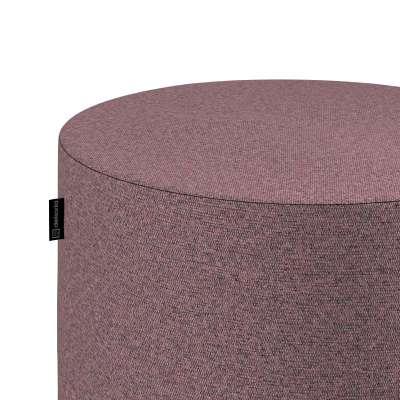 Sedák Barrel- válec pevný,  d40cm, výška 40cm 704-48 růžový melanž s černou nitkou Kolekce Amsterdam