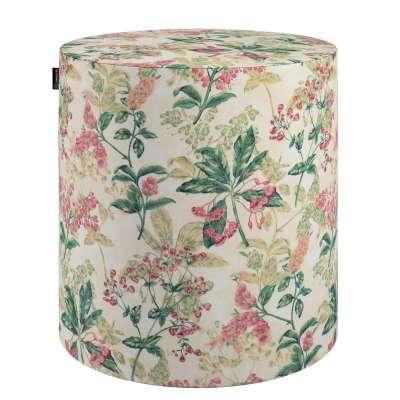 Puf Barrel 143-41 różowo-beżowe rośliny na tle ecru Kolekcja Londres