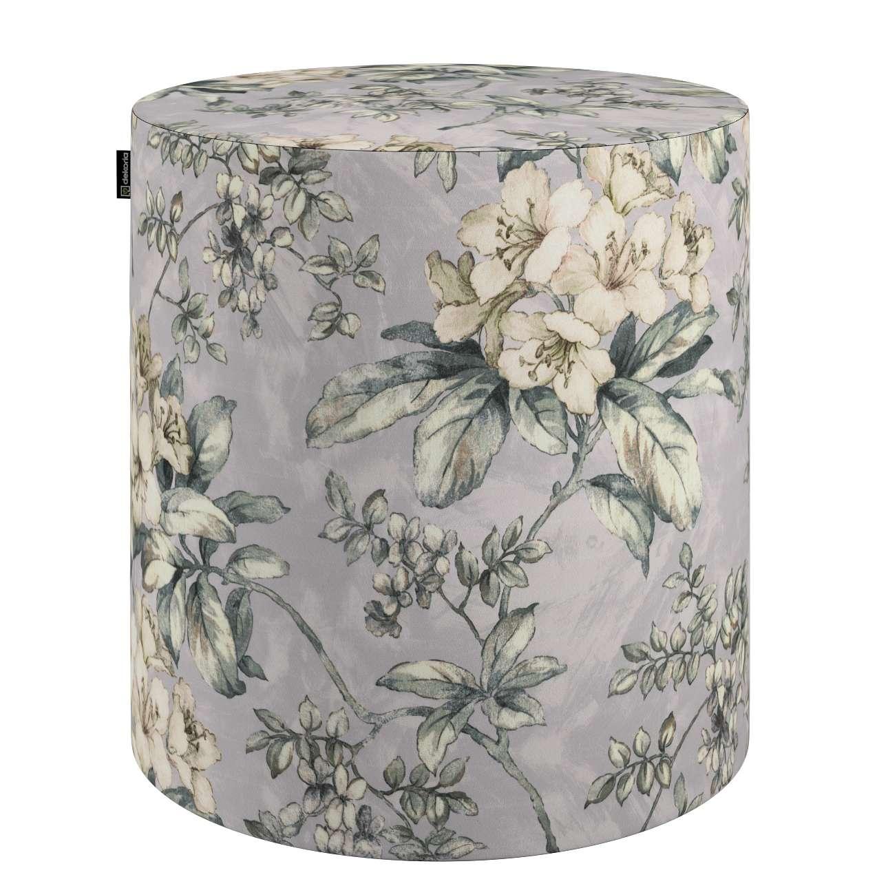 Puf Barrel w kolekcji Londres, tkanina: 143-36