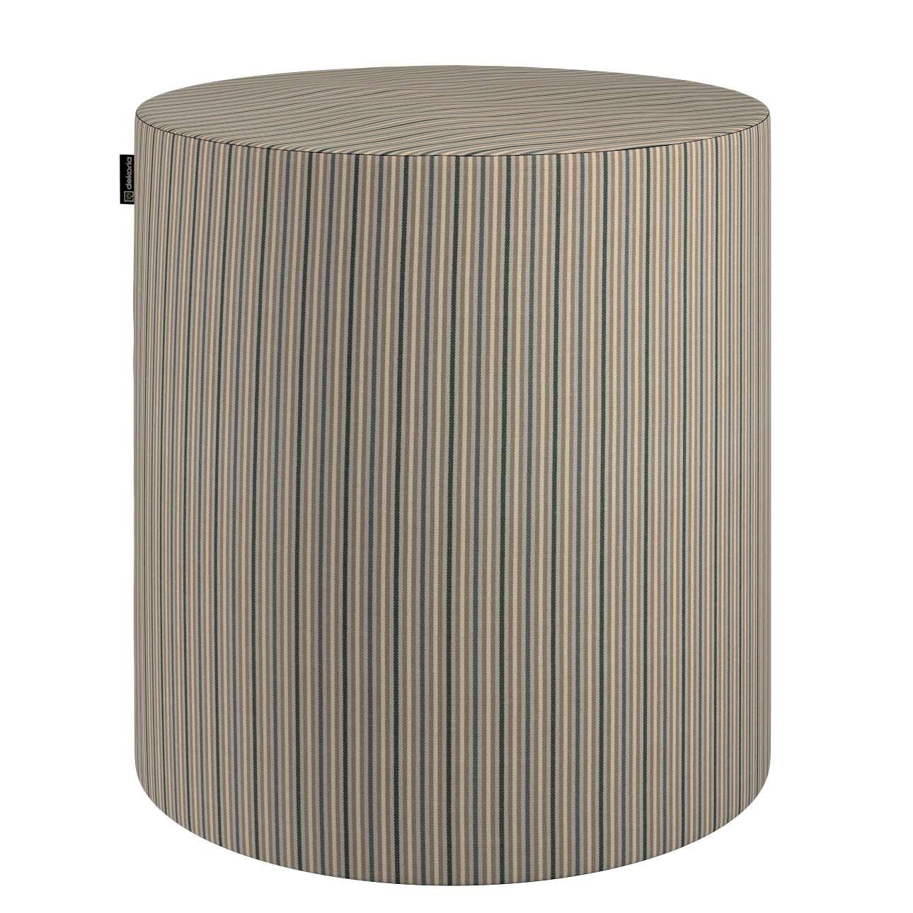 Pouf Barrel von der Kollektion Londres, Stoff: 143-38