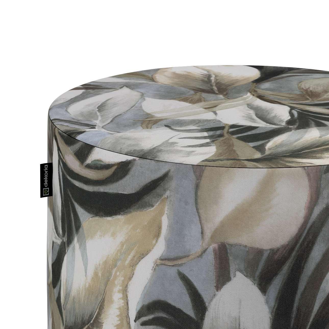 Taburetka valec, tvrdá V kolekcii Abigail, tkanina: 143-60