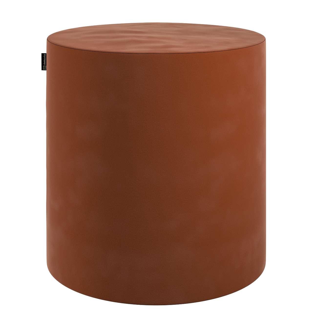 Sedák Barrel- válec pevný,  d40cm, výška 40cm v kolekci Velvet, látka: 704-33