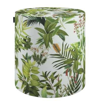 Poef Barrel 143-69 groen-wit Collectie Tropical Island