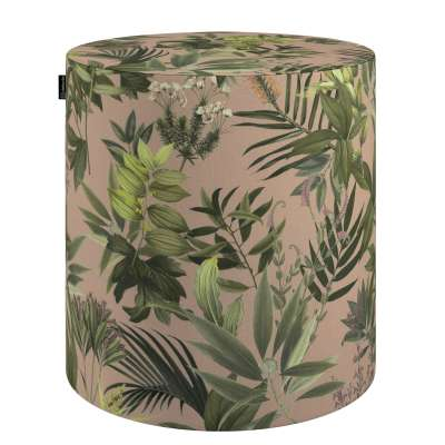 Pouf seat Barrel 143-71 green-dirty pink Collection Tropical Island