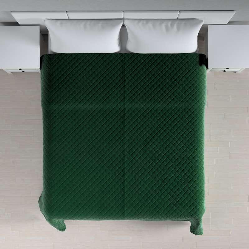 Sengetæppe quiltet<br/>i rombe i volour fra kollektionen Velvet, Stof: 704-13