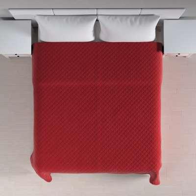Velvet kolekcijos lovatiesė dygnsiuota  rombiukais 704-15 Raudona Kolekcija Velvetas/Aksomas