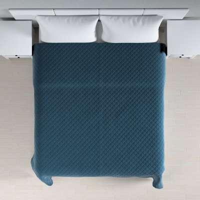 Velvet kolekcijos lovatiesė dygnsiuota  rombiukais 704-16 Mėlyna Kolekcija Velvetas/Aksomas