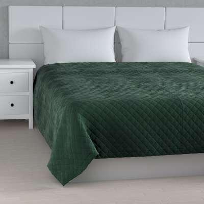 Velvet kolekcijos lovatiesė dygnsiuota  rombiukais 704-25 tamsi žalia Kolekcija Velvetas/Aksomas