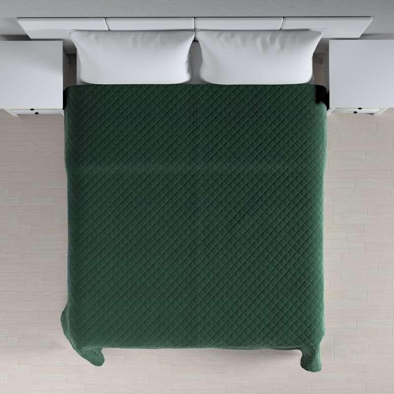 Sengeteppe quiltet<br/>i rombe i velour fra kolleksjonen Velvet, Stoffets bredde: 704-25