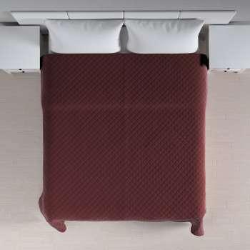 Sengetæppe quiltet<br/>i rombe i volour fra kollektionen Velvet, Stof: 704-26