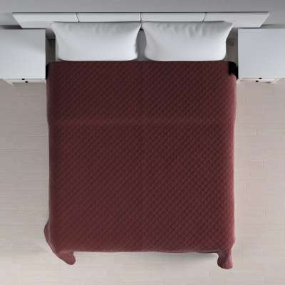 Sengeteppe quiltet<br/>i rombe i velour 704-26 Bordeaux Kolleksjon Velvet