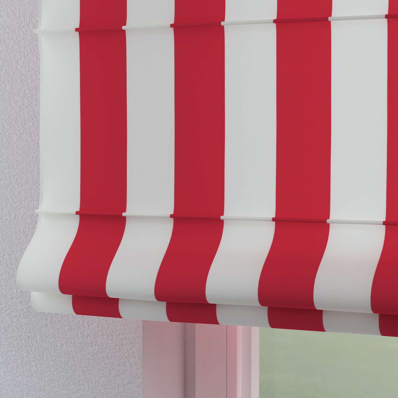 Torino Slot Roman Blind Red And White Stripes 137 54