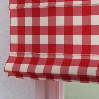 Roleta rzymska Torino 136-18 czerwono biała krata (5,5x5,5cm) Kolekcja Quadro