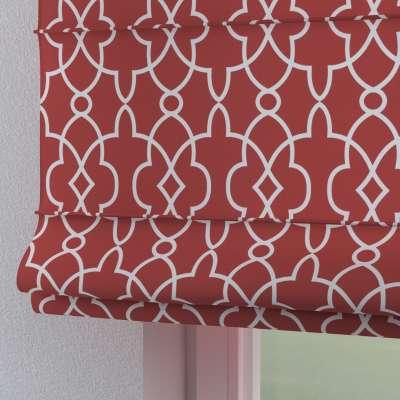 Roleta rzymska Torino 142-21 czerwony w biały marokański wzór Kolekcja Gardenia