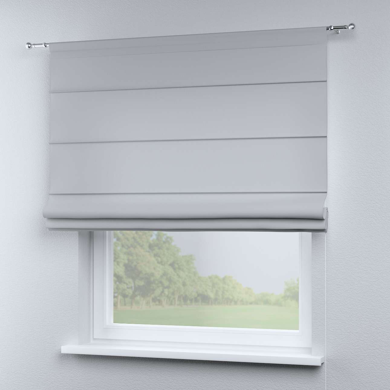 Torino Slot Roman Blind Grey With A Hint Of Blue 142 40