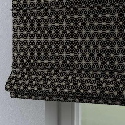Roleta rzymska Torino 142-56 czarno-beżowy ze złotą nitką Kolekcja Black & White