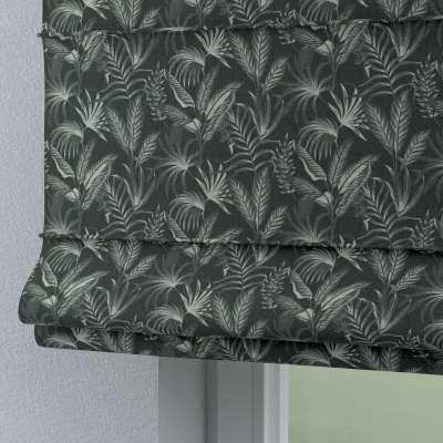 Římská roleta Torino 143-73 listy na černém pozadí Kolekce Flowers