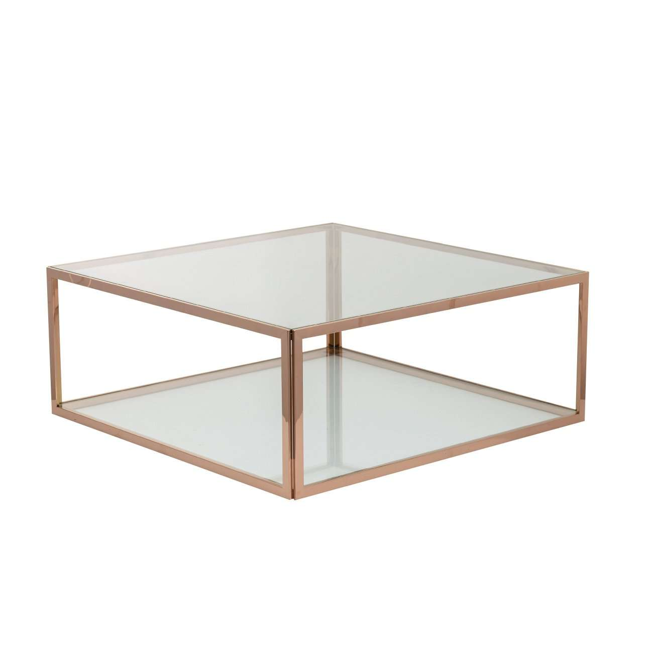 Salontafel Cube rose gold 100x100x40cm