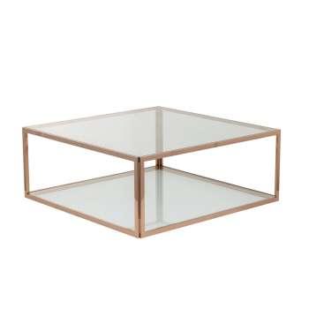 Salontafel Cube rose gold 100x100x40cm