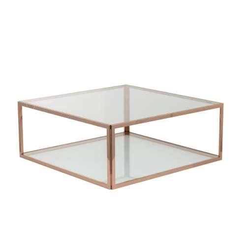 Konferenční stolek Qube rose gold 100x100x40cm