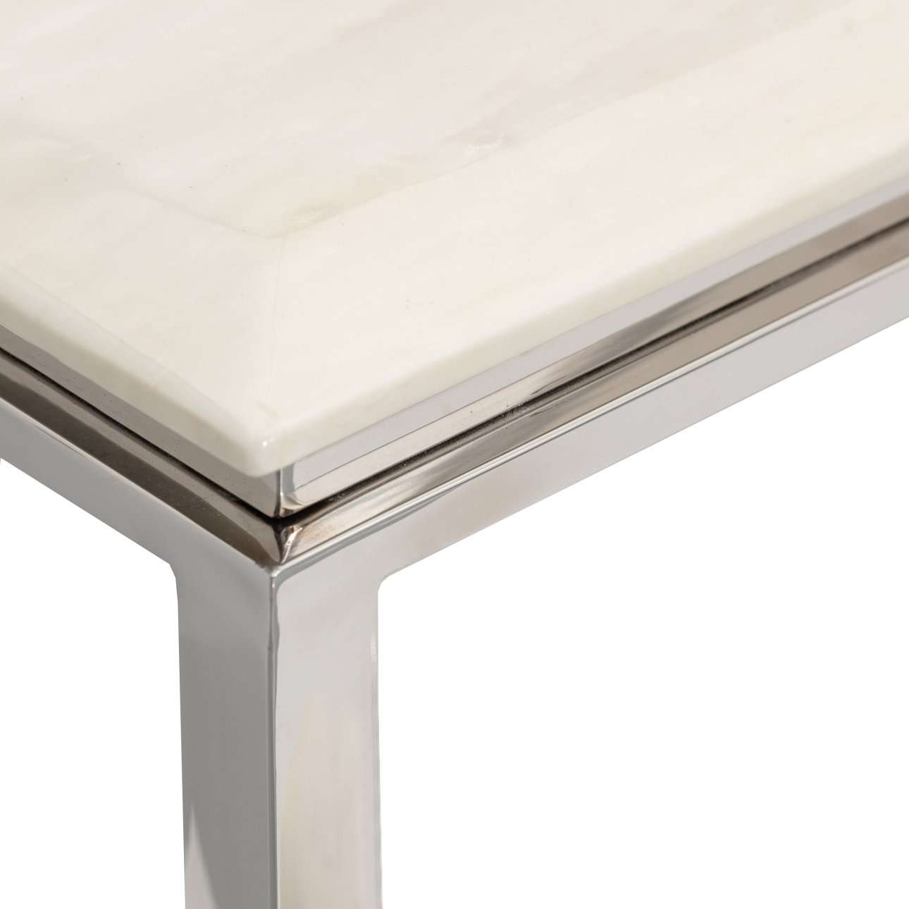 Ława Marble ivory white 70x130x42cm