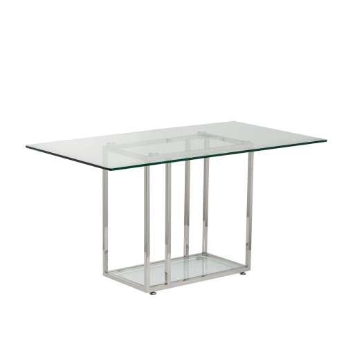 Stůl pracovní 140x80x74cm, skleněná deska
