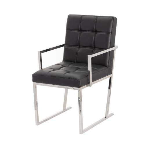 Krzesło Conti black leather